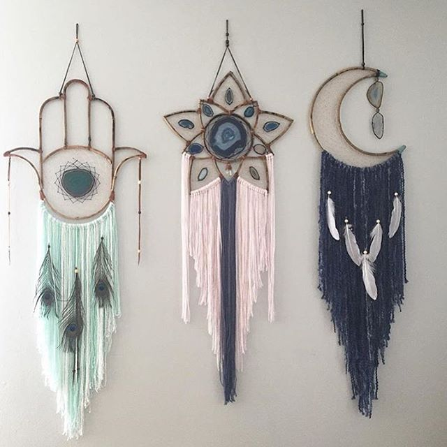 Amazing new dream catchers handmade by @vintagerubia and available from @tierra_alma ✨