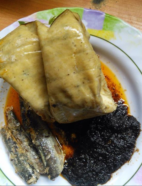 Fante Kenkey with shito and sardines                                                                                                                                                                                 More