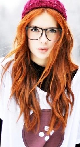 Hipster ginger