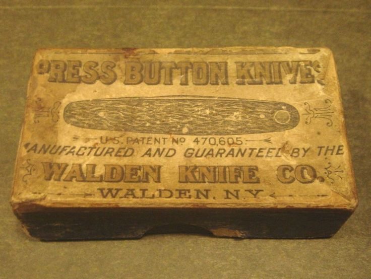 Antique Press Button Knives Walden Knife Co Ny Knife Box