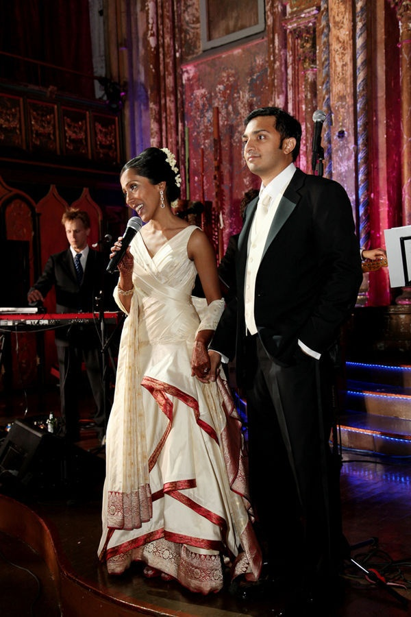 Angelo Lambrou sari + wedding dress design