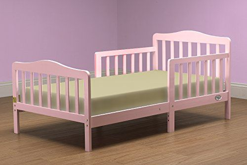 Contemporary #toddler bed is set at the right height. Has been designed so that your toddler can safely get in and out of bed. Complete #with two side safety rail...