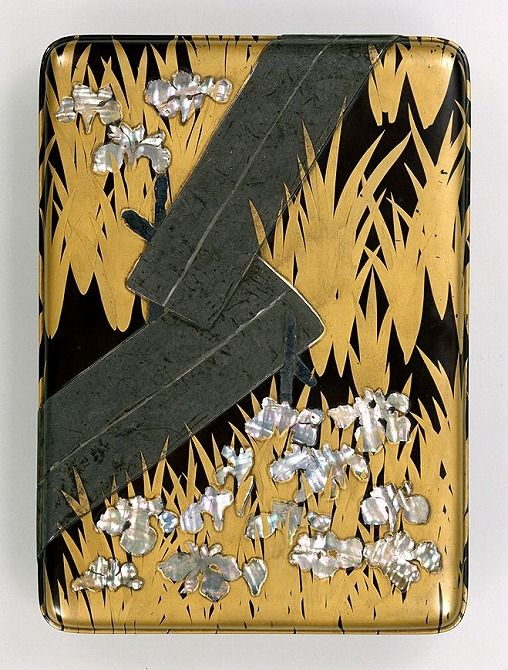 Writing Box with Eight Bridges by Ogata Korin