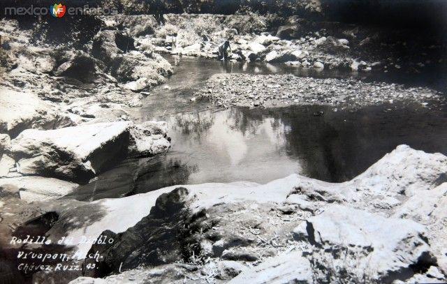 Lavanderas en La Rodilla del Diablo hacia 1930-1950