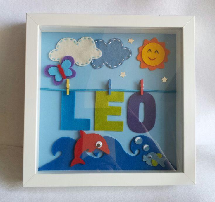 Las Maricuchíbricas apostamos siempre por los objetos personalizados y hechos a mano. Y éste, nuestro cuadro infantil personalizado es la e...