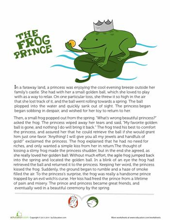 Story of the Frog Prince & Sequencing Cards - lots more stories and sequencing activities for early readers here