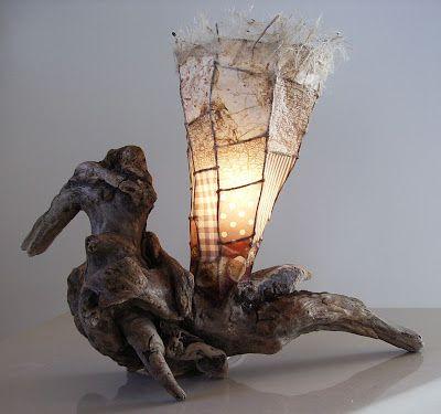 Lampe de bois flott disponible l 39 atelier bertrand de for Atelier bois flotte