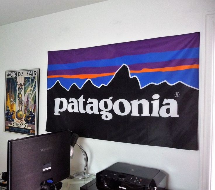 Patagonia Outdoor Company HUGE 3X5 BANNER poster store sign advertising clothes #Patagonia