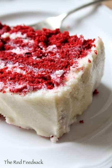 60 year old Red Velvet Cake recipe The frosting recipe is the one my family always used. No other frosting compares!!!
