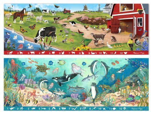 3 Item Bundle: Melissa U0026 Doug 4440 Sunny Hill Farm And 4493 Under The Sea  Search U0026 Find Floor Puzzles + Free Activity Book By Melissa U0026 Doug. $22.99.