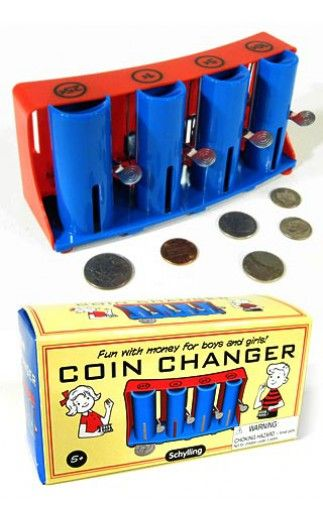 $8 Carnival Coin Changer Real Money Belt | Schylling Tin Toys | 019649221318