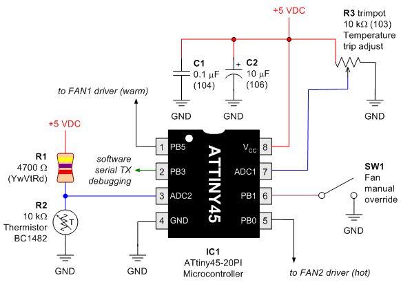 dual fan controller