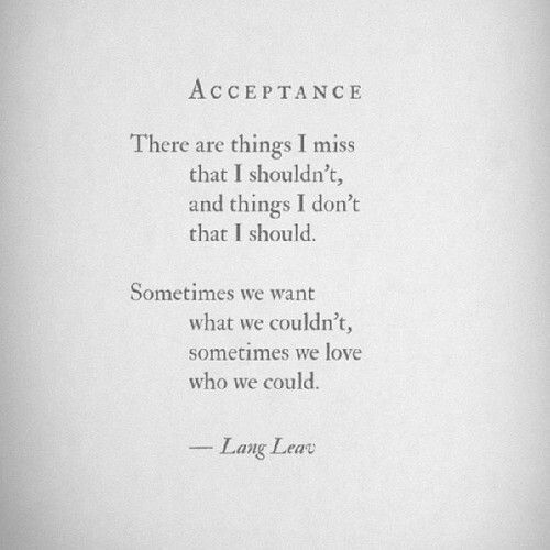 Lang Leav - Acceptance