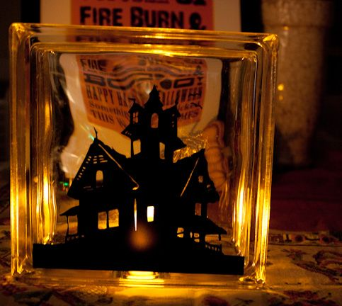 Best Glass Blocks Images On Pinterest Glass Block Crafts - Halloween vinyl decals for glass blocks