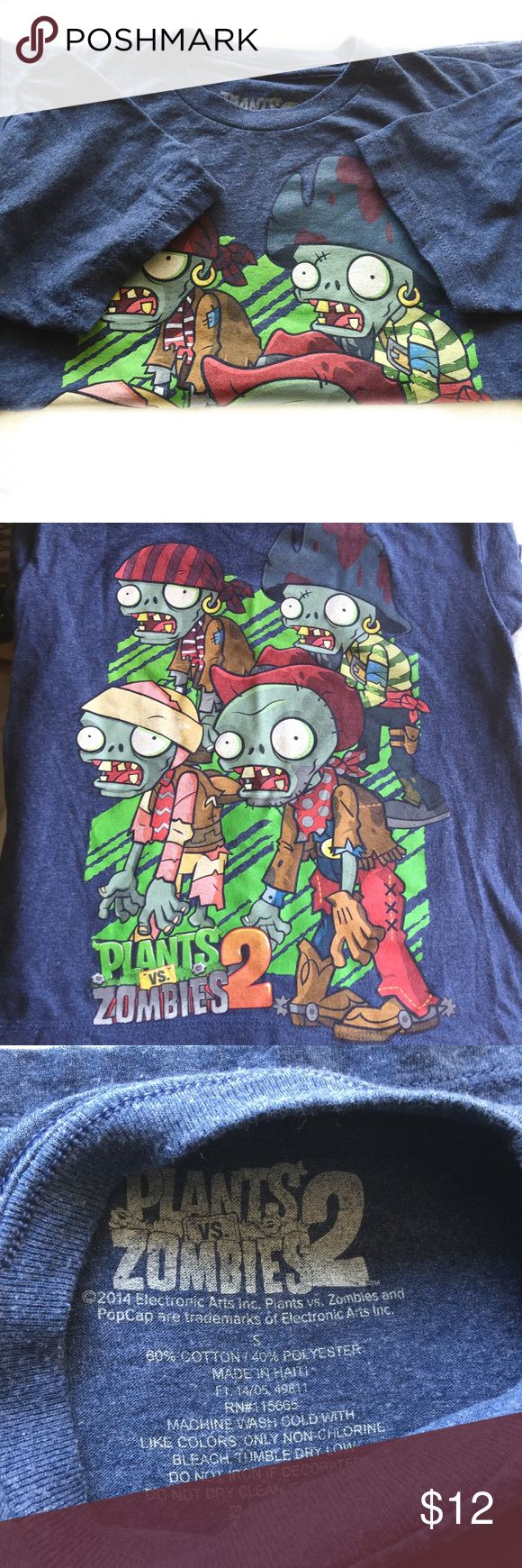 Plants' vs Zombies 2 kids t Shirt Plants vs Zombies 2 kids t Shirt. Lovely used. Size S Plants vs Zombies Shirts & Tops Tees - Short Sleeve