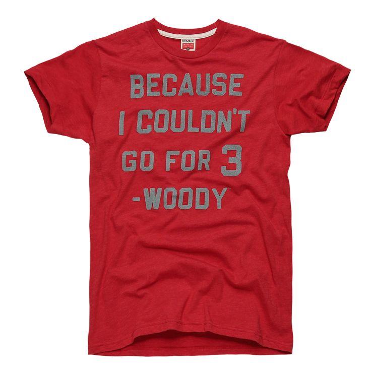 HOMAGE Go For Three Buckeyes Woody Hayes T-Shirt - $28.00