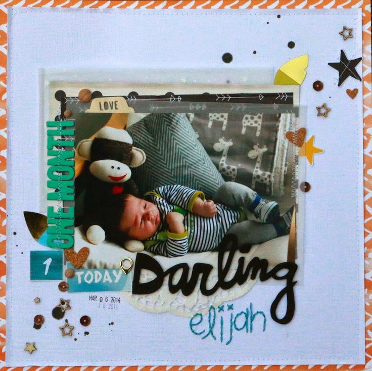 Darling Elijah - by Kayla Macaulay for Polly! Scrap Kits, using March 2014 Spearmint Leaves kit. Includes process video