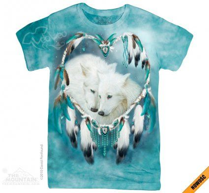 Wolf Heart - The Mountain - Damska - Koszulka damska z białymi wilkami - www.veoveo.pl