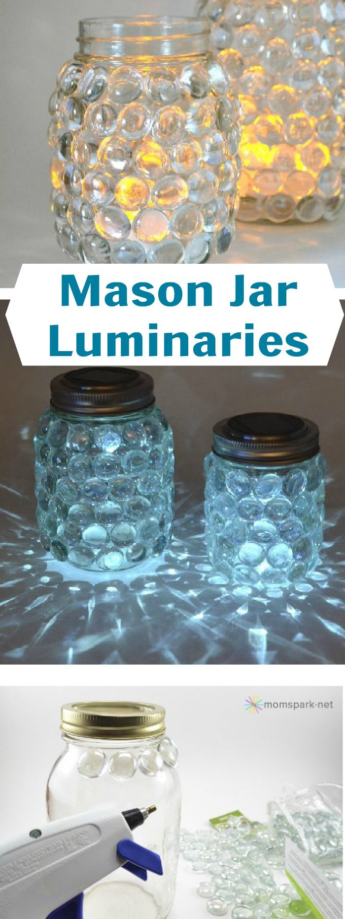 Create a mason jar luminary ~ similar to a scatter candle ~ the easy way.