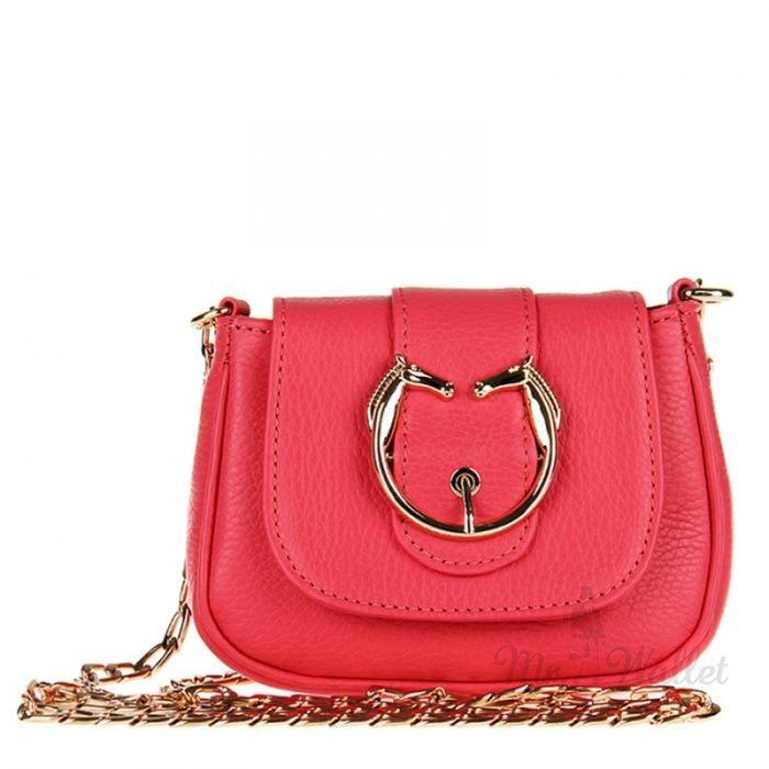 Кожаная сумочка женская коралловая Rossatti Mini-928-70R 1008 грн.