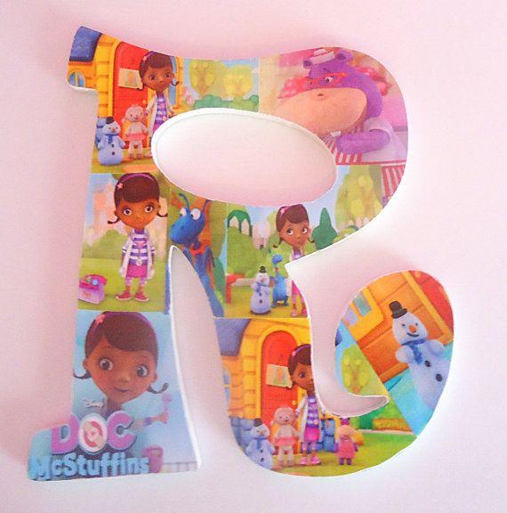doc mcstuffins inspired letter decor via etsy