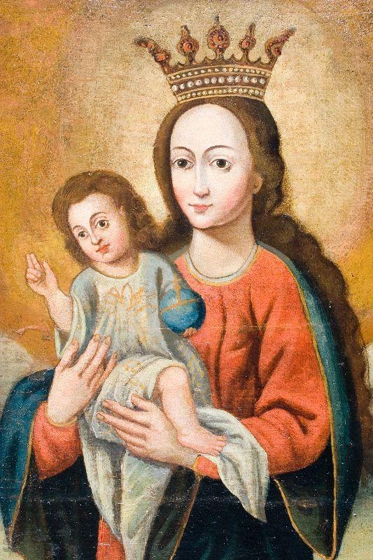 Matka Boska z Dzieciatkiem, Palac Biskupa Erazma Ciolka, wl.Muzeum Narodowe w Krakowie