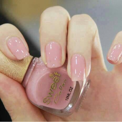 Nails I M A Er For Short Super Shiny Pink Natural Nail With Gel Topcoat In 2018 Art