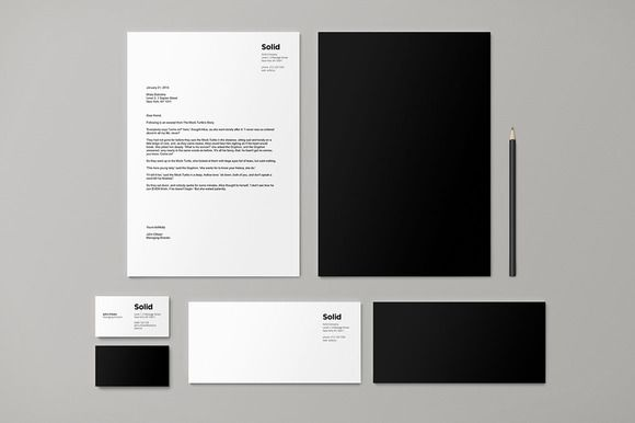 Stationery Template Identity - Solid by Dashwood on Creative Market