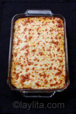 Stef's Pastel de choclo con queso or pastel de humita savory corn cake