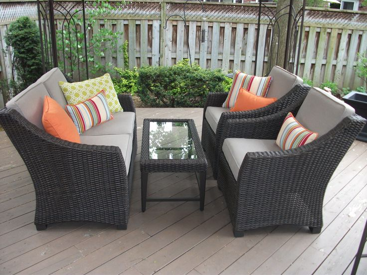 It's time to freshen up your outdoor cushions and maybe make new seats if the foam is soft and shrinking.  I can custom make any outdoor cushion sizes.