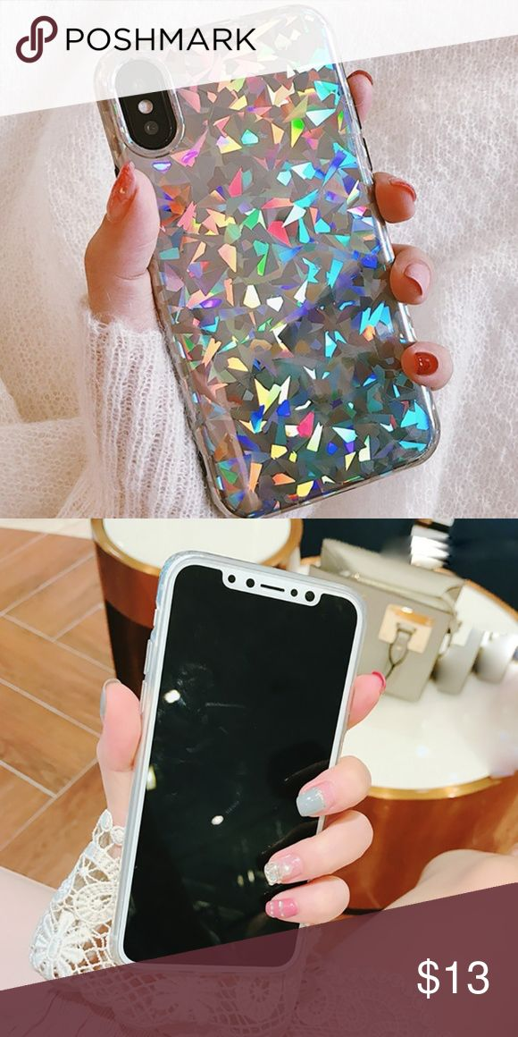 iPhone Holographic Prism Case BRAND NEW RUBBER SOFT CASE!  Also available for:  Please message me your phone model when purchasing!  Available for:  iPhone 6/6s  iPhone 6 Plus/6s Plus  iPhone 7  iPhone 7 Plus  Iphone 8  iPhone 8 Plus  iPhone X Accessories Phone Cases #iphone7pluscase