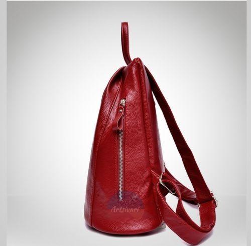 Stylish Women Genuine Leather Backpack School College Travel Handbag Vintage Bag | eBay