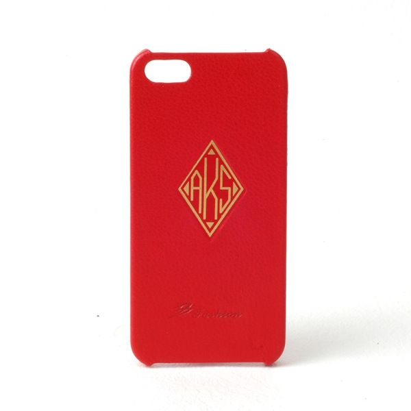 Leather iPhone 5/5s RED Case : FREE Monogram  from mozzin by DaWanda.com