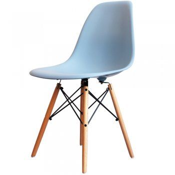 Buy Eames Style Light Blue Plastic Retro Side Chair from Fusion Living