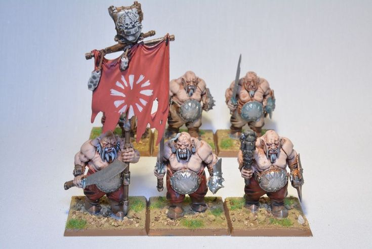 Warhammer Army Grand Alliance Destruction Ogors Gutbusters Ogor Bulls x6 Painted