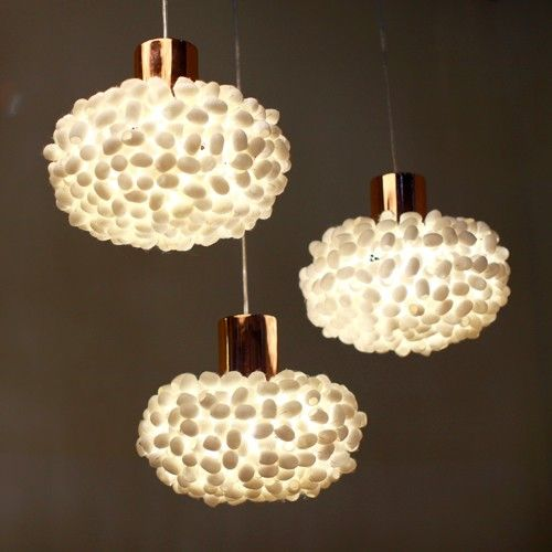 High Quality Silk Cocoons And Metal Detailing Distinguish The Earth Friendly ANGO Unit  Cocoon Pendant Light. Amazing Design