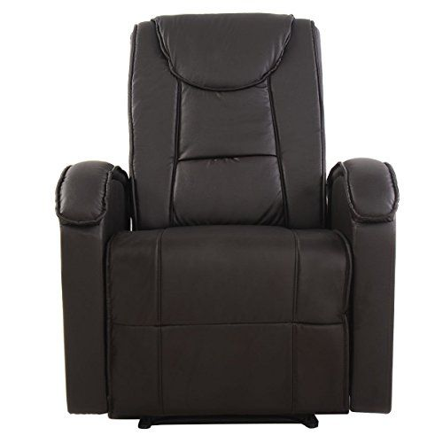 Ergonomic Sofa Chair Recliner Lounge Deluxe Pu Leather Home Furniture Brown New