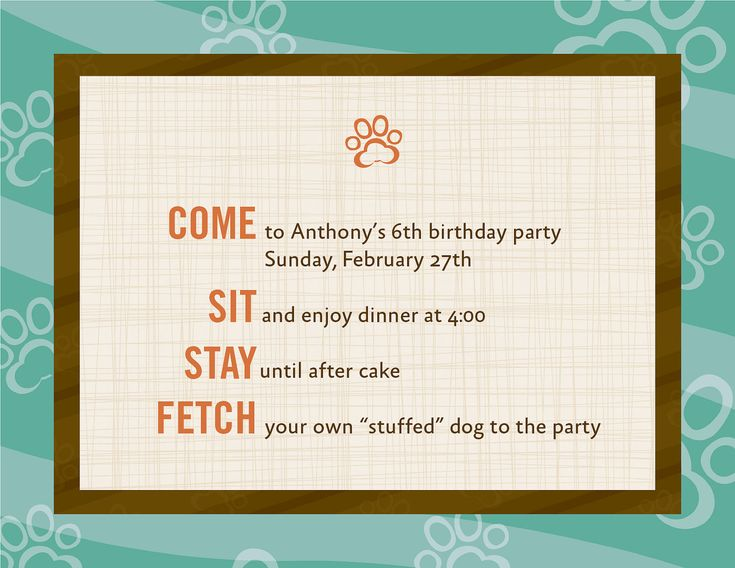 78 best images about Dog Themed Birthday Party – Dog Party Invitation