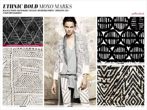 Première Vision Spring/Summer 2016 Print & Pattern Trend Report | Patternbank ethnic bold mono marks