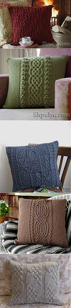 Вязаные подушки — Шпуля - сайт о вязании