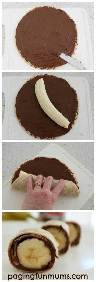 #Chocolate #Banano #Tortillas