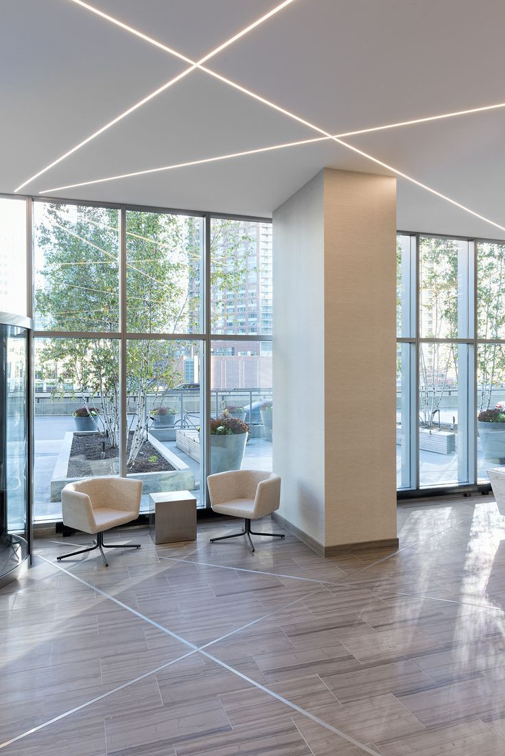 For a sleek, modern look in offices and commercial spaces, use recessed LEDs | Unique lighting Idea | TruLine .5A - by Pure Lighting