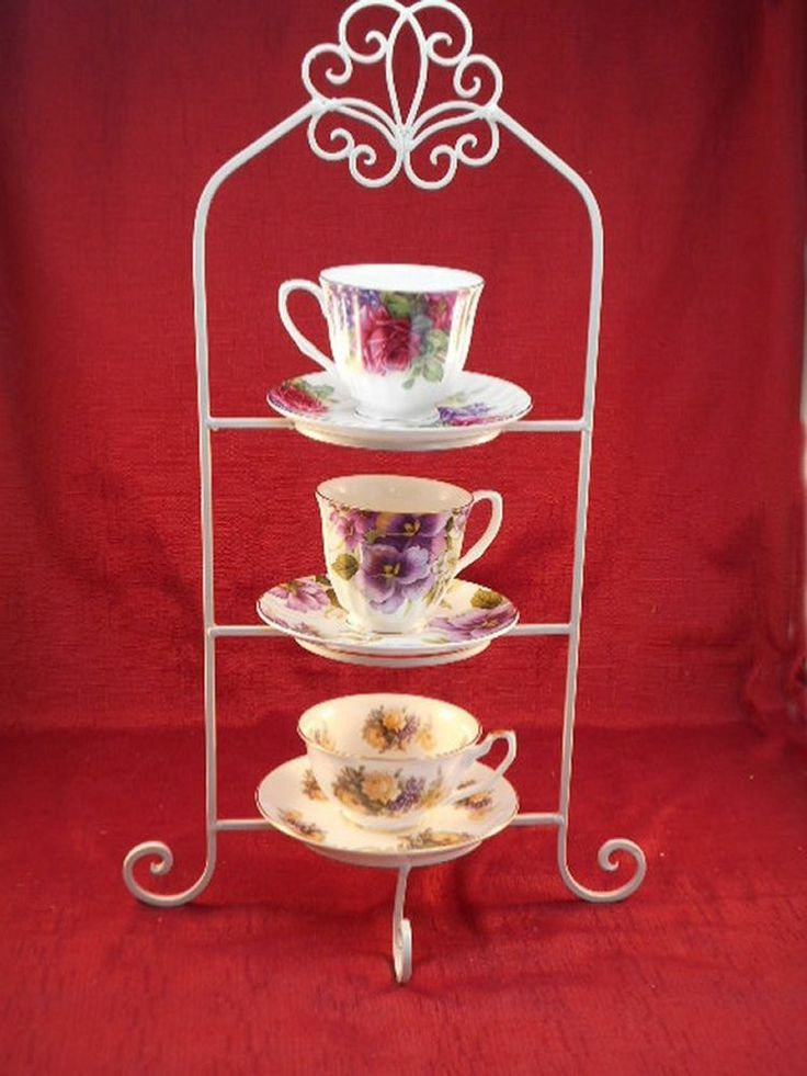 3 Tier Tea Cup Amp Saucer Table Rack Teacups Not Included