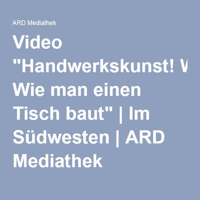 """Wie unser poe.tisch entsteht: Video """"Handwerkskunst! Wie man einen Tisch baut""""   Im Südwesten   ARD Mediathek http://www.ardmediathek.de/tv/Im-S%C3%BCdwesten/Handwerkskunst-Wie-man-einen-Tisch-baut/SWR-Fernsehen/Video?bcastId=27081432&documentId=35557880"""
