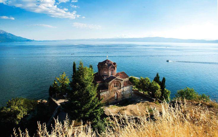 The Orthodox Church of Sveti Jovan (St John) at Kaneo, overlooking Lake Ohrid © Ivan Vukelic / Getty Images  Ohrid, Macedonia