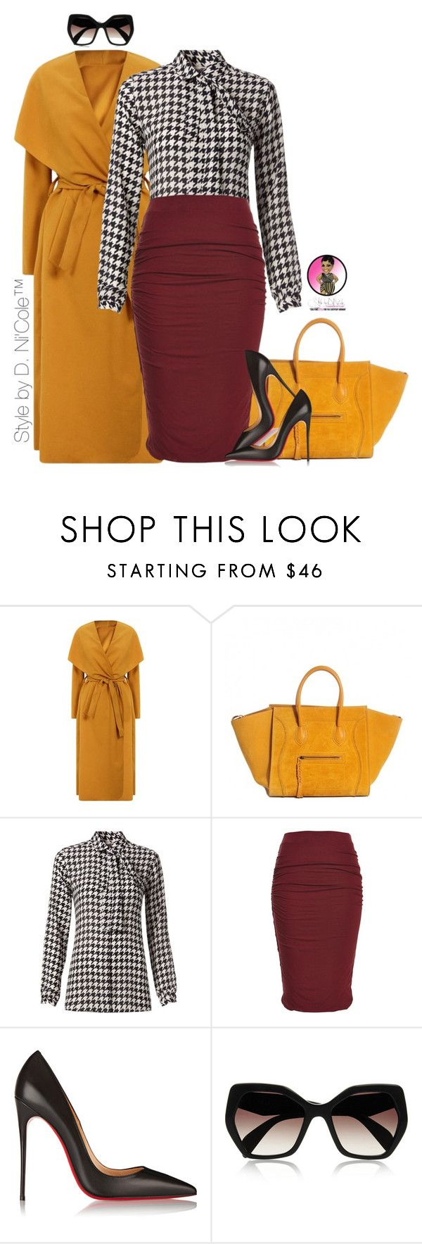 """""""Untitled #2852"""" by stylebydnicole ❤ liked on Polyvore featuring Tommy Hilfiger, Christian Louboutin and Prada"""
