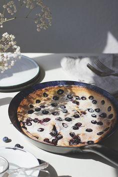 Rezept für Heidelbeer-Buttermilch-Ofenpfannkuchen, Dutchbabe. Holunderweg18