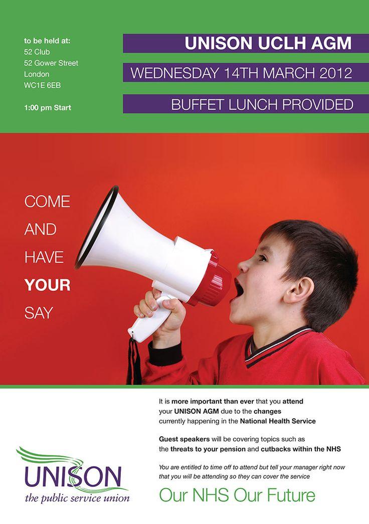 Unison UCLH AGM A4/A5 leaflet.