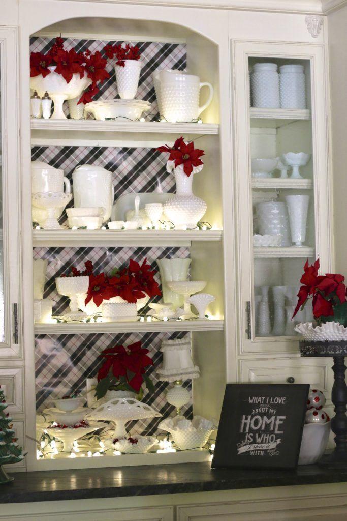 My Milk Glass Collection #Christmas #vintage #farmhouse