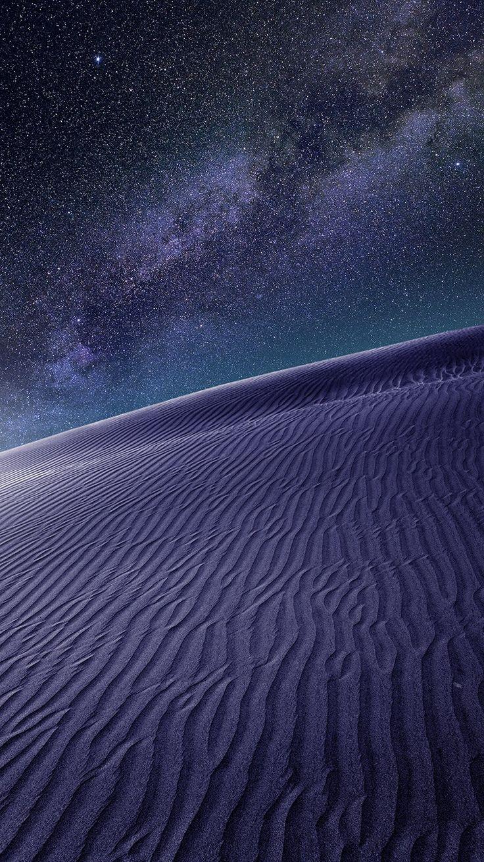 purple desert night